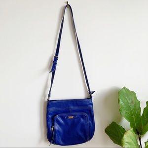 Nine West Royal Blue Crossbody Faux Leather Bag